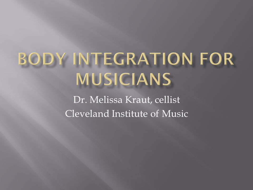 Dr. Melissa Kraut, cellist Cleveland Institute of Music