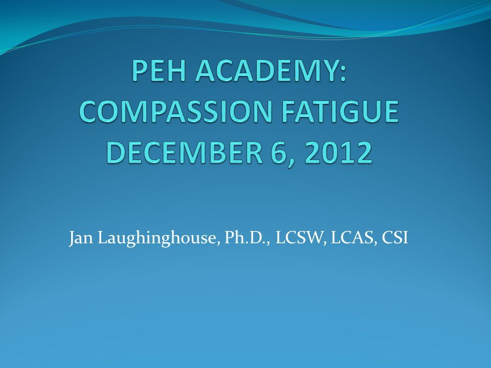 Jan Laughinghouse, Ph.D., LCSW, LCAS, CSI