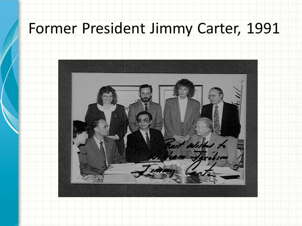 Former President Jimmy Carter, 1991