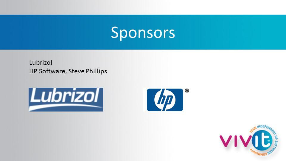 Sponsors Lubrizol HP Software, Steve Phillips