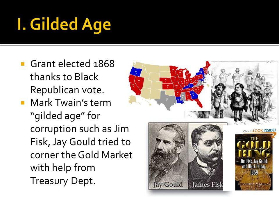  Grant elected 1868 thanks to Black Republican vote.