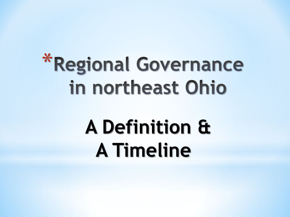 Regional governments, and their initiatives, are driven by government, not by the people.