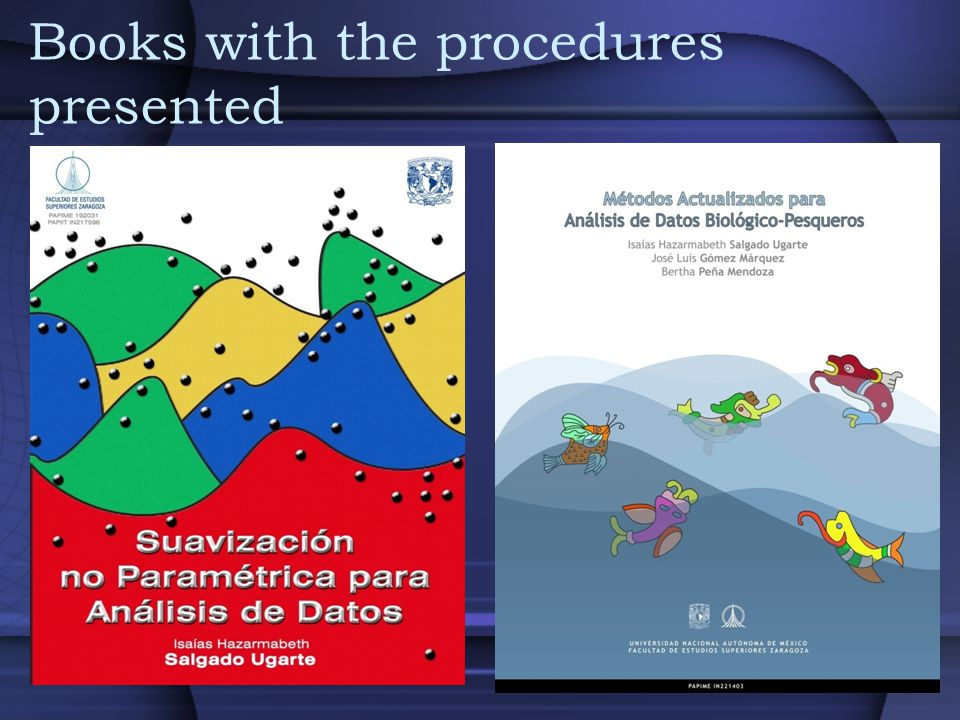 Books with the procedures presented