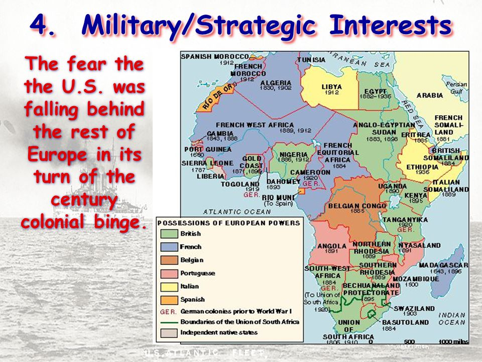 4. Military/Strategic Interests The fear the the U.S.