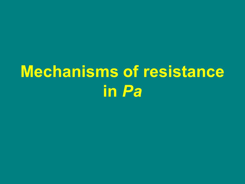 Mechanisms of resistance in Pa