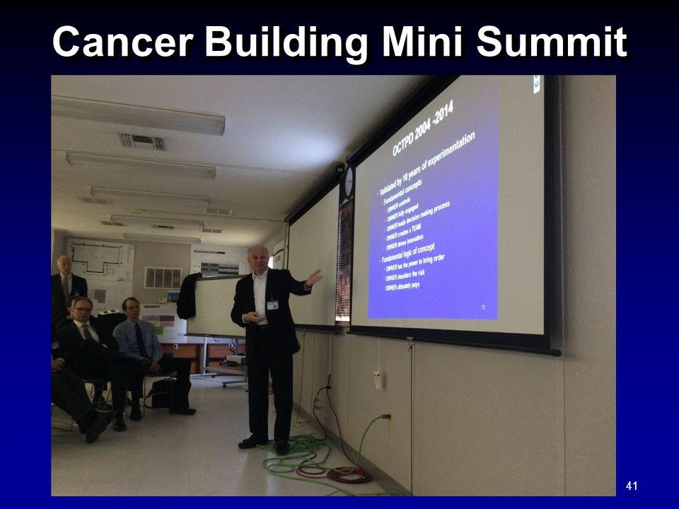 Cancer Building Mini Summit 41