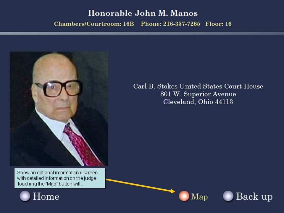 Show an optional informational screen with detailed information on the judge.