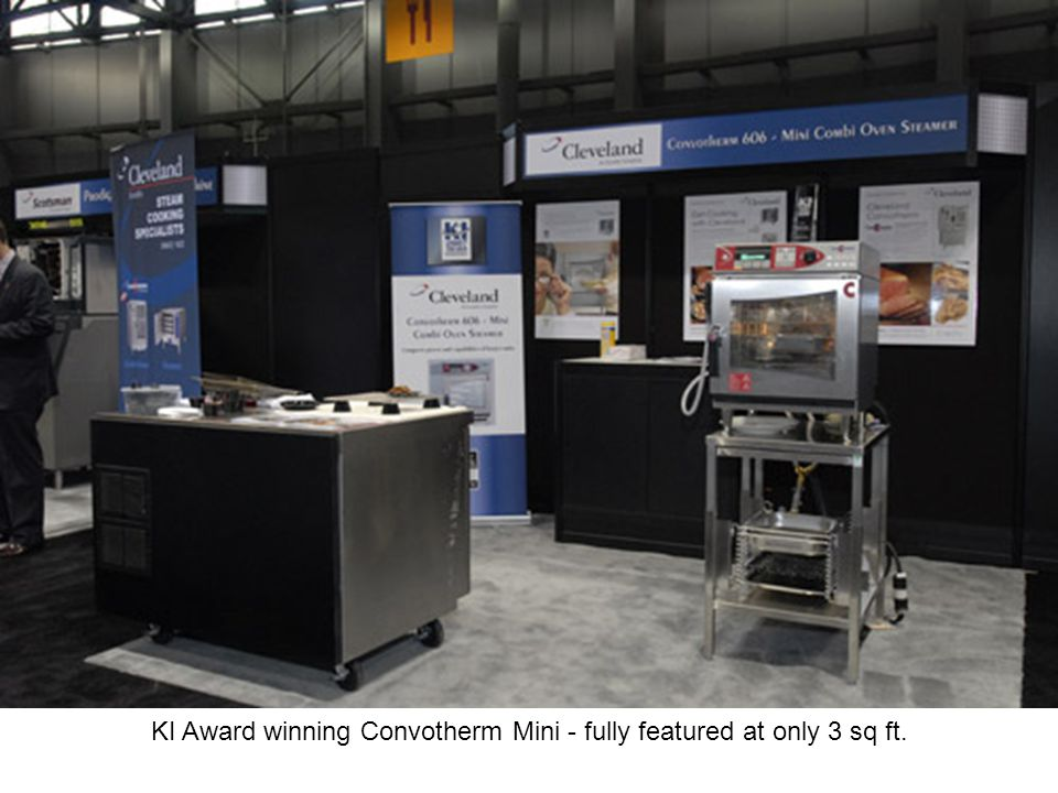KI Award winning Convotherm Mini - fully featured at only 3 sq ft.