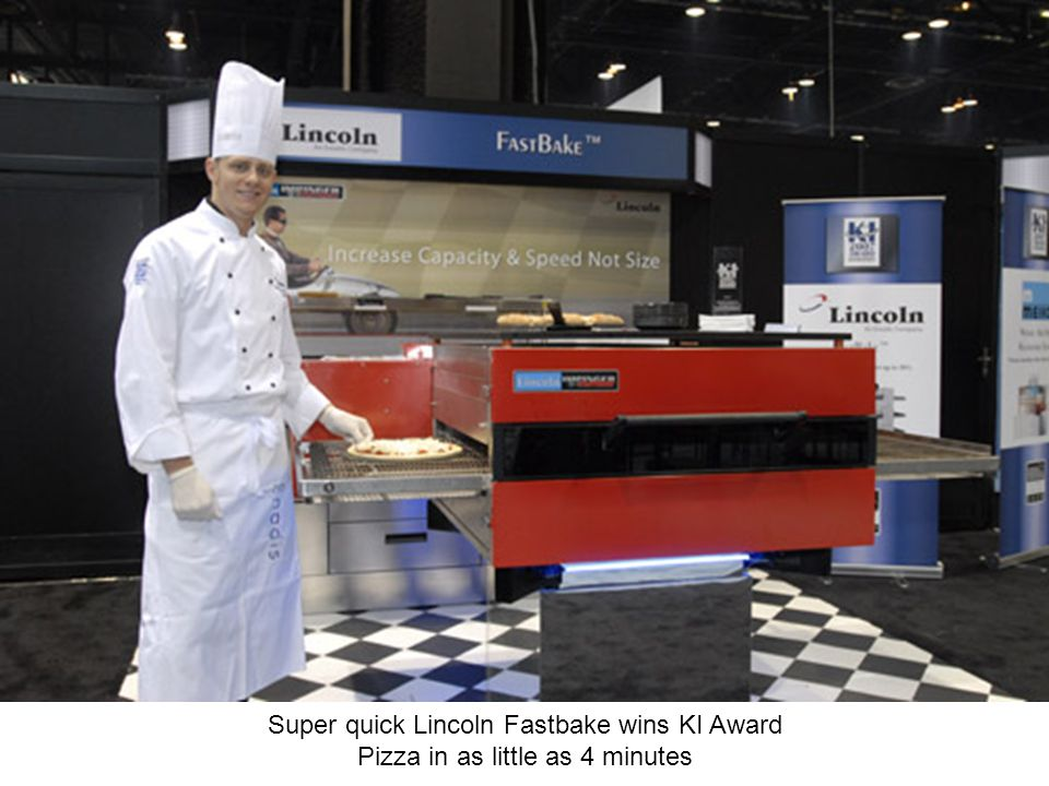 Super quick Lincoln Fastbake wins KI Award Pizza in as little as 4 minutes