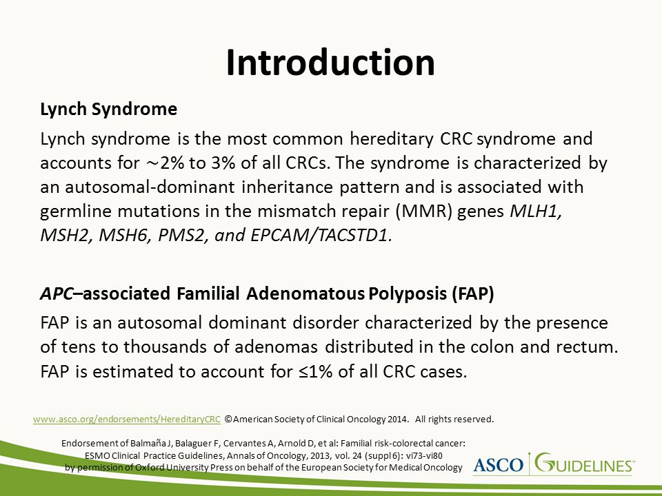 Introduction Attenuated Familial Adenomatous Polyposis (AFAP) AFAP is suspected when a person has a history of ≥ 20, but ≤ 100 colorectal adenomas.