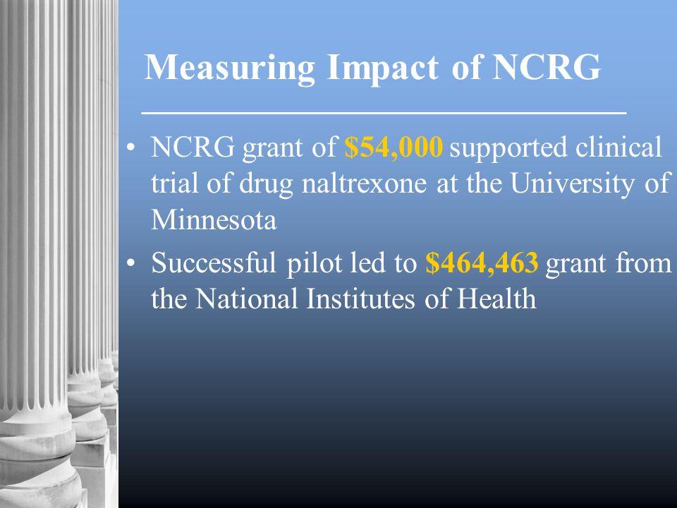 In 2000, NCRG established first U.S.