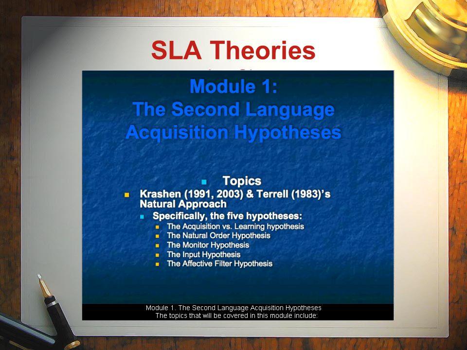 SLA Theories on LecShare