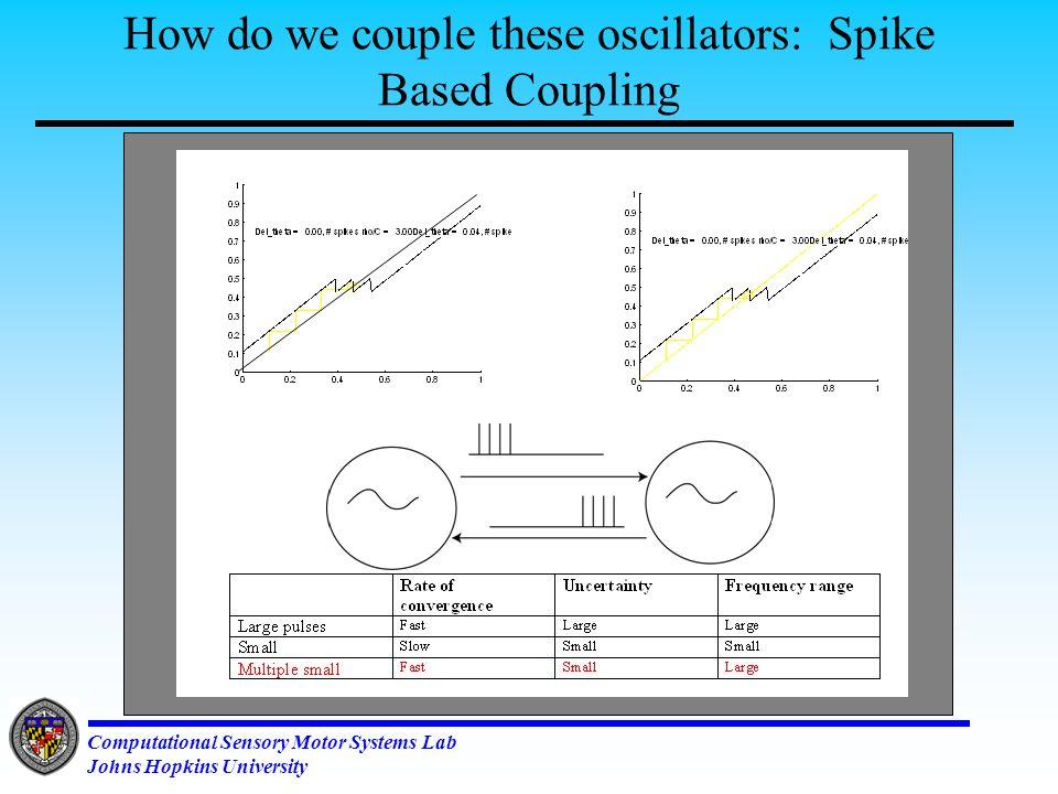 Computational Sensory Motor Systems Lab Johns Hopkins University Sensory Feedback Mediated Motor Neuron Spike Rate Adaptation (A1 Reflex)