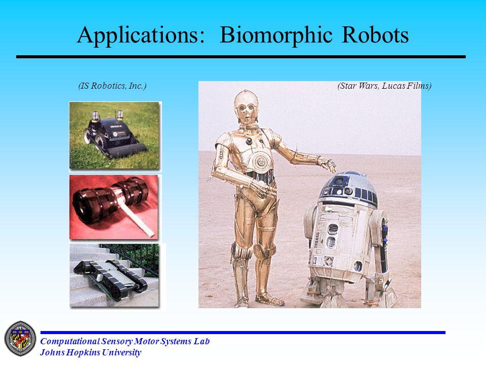 Computational Sensory Motor Systems Lab Johns Hopkins University Why do we need coupled Oscillators.
