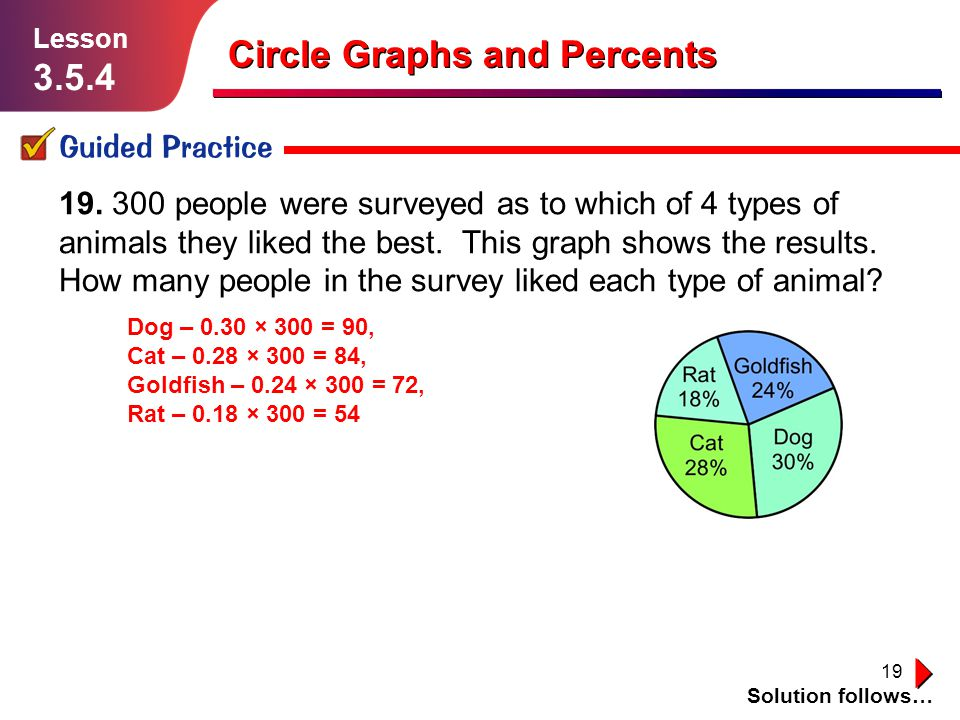 19 Guided Practice Solution follows… Lesson 3.5.4 19.