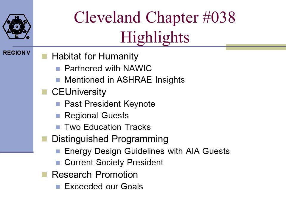 REGION V Cleveland Chapter #038 Highlights Habitat for Humanity Partnered with NAWIC Mentioned in ASHRAE Insights CEUniversity Past President Keynote
