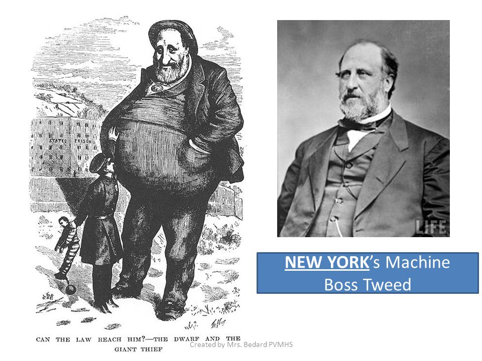 NEW YORK's Machine Boss Tweed Created by Mrs. Bedard PVMHS
