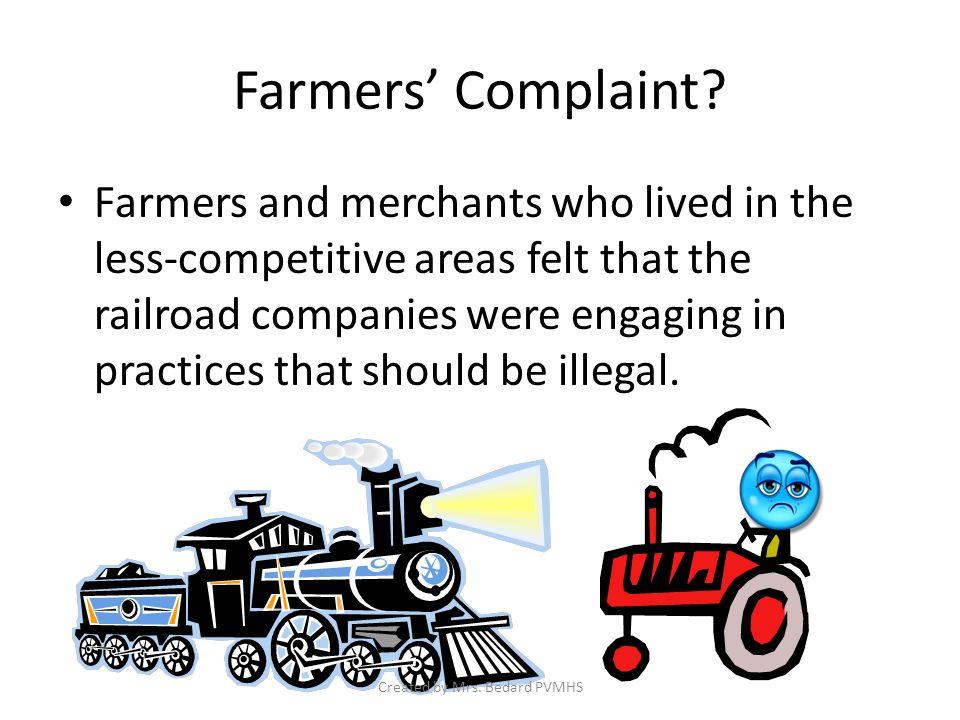Farmers' Complaint.