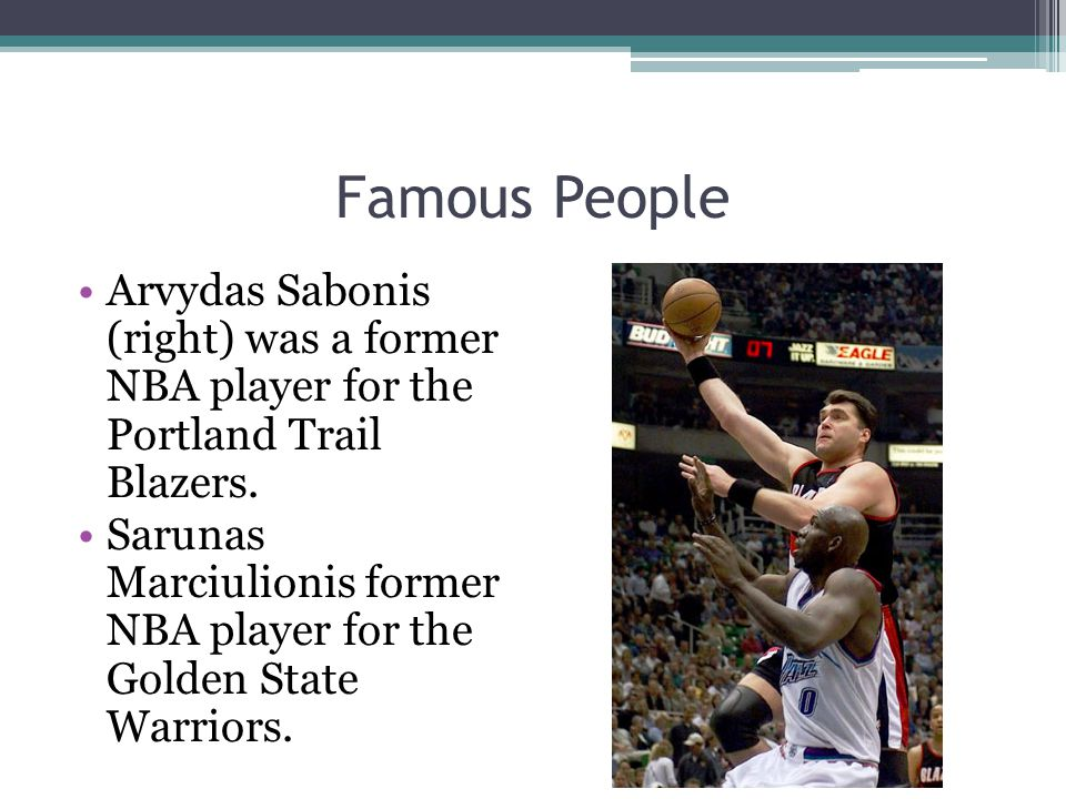  Basketball is the most popular and successful team sport in Lithuania.