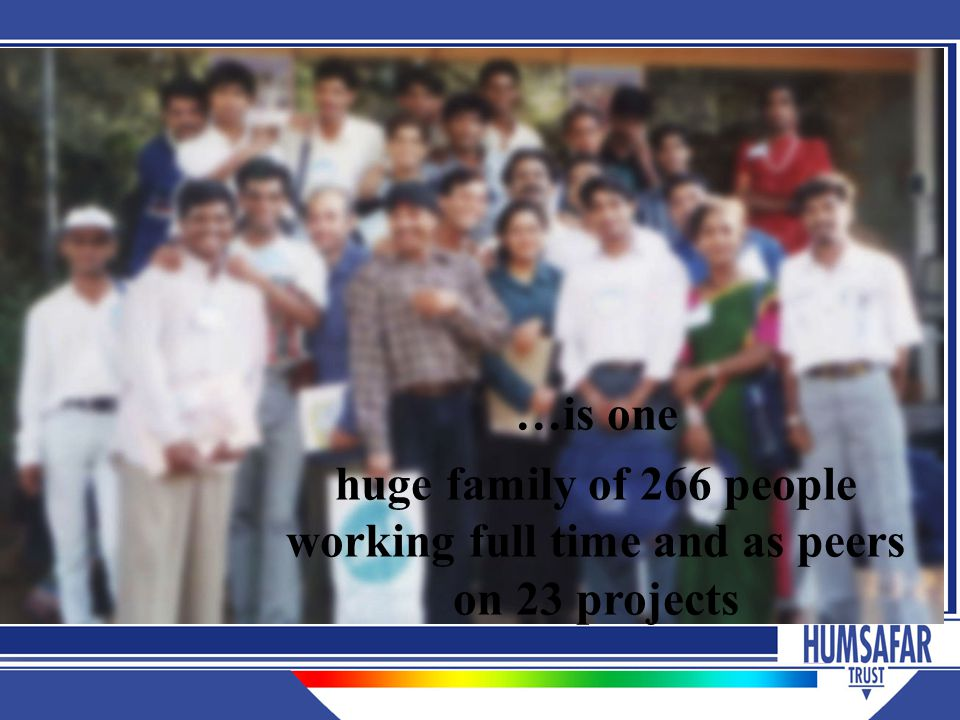 …is one huge family of 266 people working full time and as peers on 23 projects