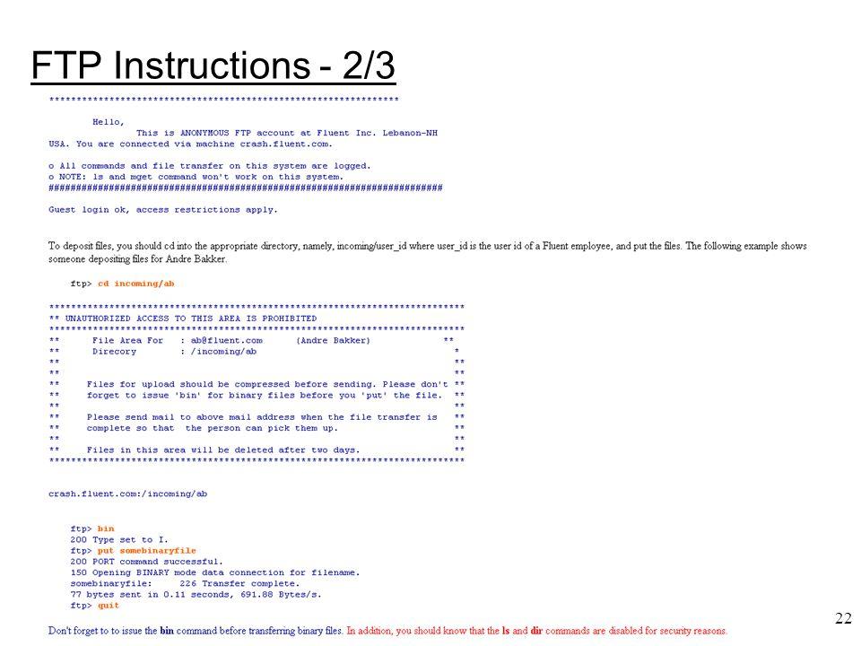 22 FTP Instructions - 2/3