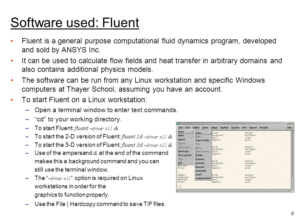 7 Software used: Gambit Gambit is used to create 2-D and 3-D geometries and to generate computational grids.