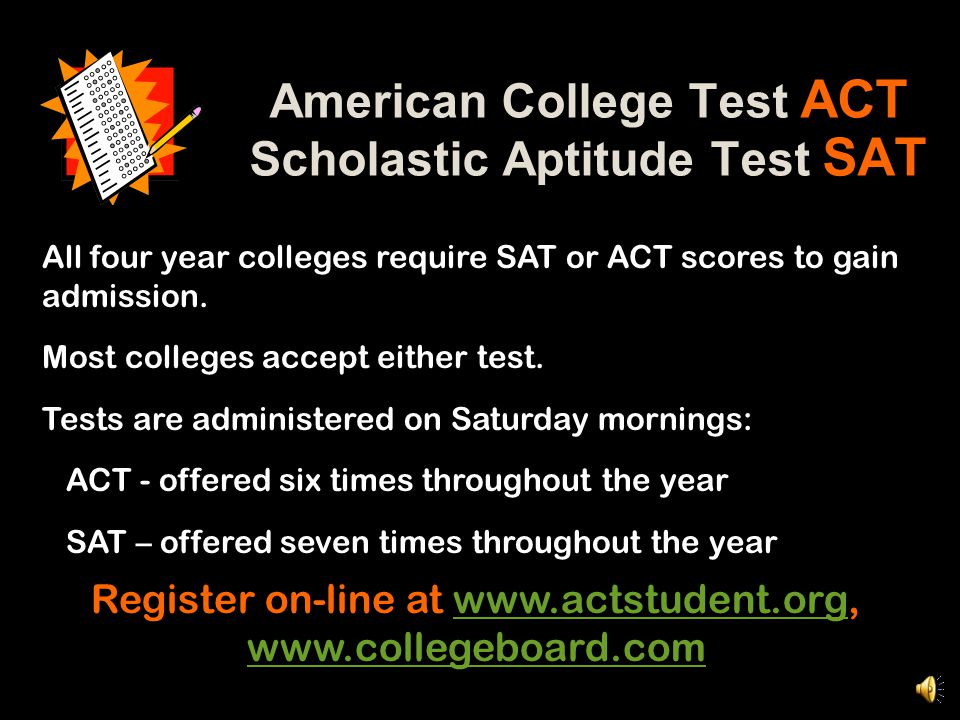 BHS is a testing site for ACT – Test SiteNumber: 186430
