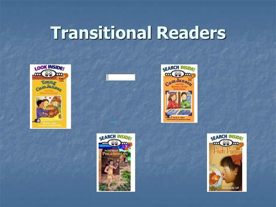Fluent Readers Grades 1 through 5 DRA Levels: 30-44 Identify most words automatically Identify most words automatically Consistently monitor, crosscheck, and self- correct reading Consistently monitor, crosscheck, and self- correct reading Read chapter books with good understanding Read chapter books with good understanding Offer their own interpretations of text, based on personal experiences and prior reading experiences Offer their own interpretations of text, based on personal experiences and prior reading experiences Read for a variety of purposes Read for a variety of purposes May read a variety of genres independently May respond to text by offering examples from their own lives, or by making connections to other books they've read or books by the same author Respond to the author's craft and may try to mimic it in their own writing