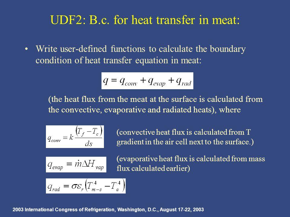 2003 International Congress of Refrigeration, Washington, D.C., August 17-22, 2003 UDF2: B.c.
