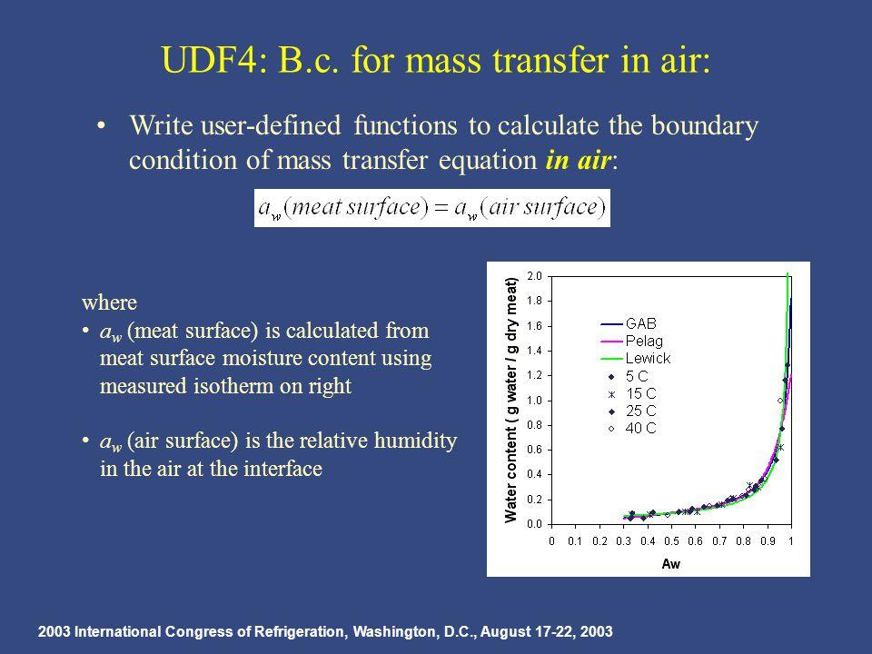 2003 International Congress of Refrigeration, Washington, D.C., August 17-22, 2003 UDF4: B.c.