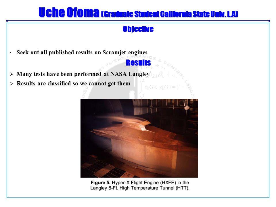 Uche Ofoma (Graduate Student California State Univ.
