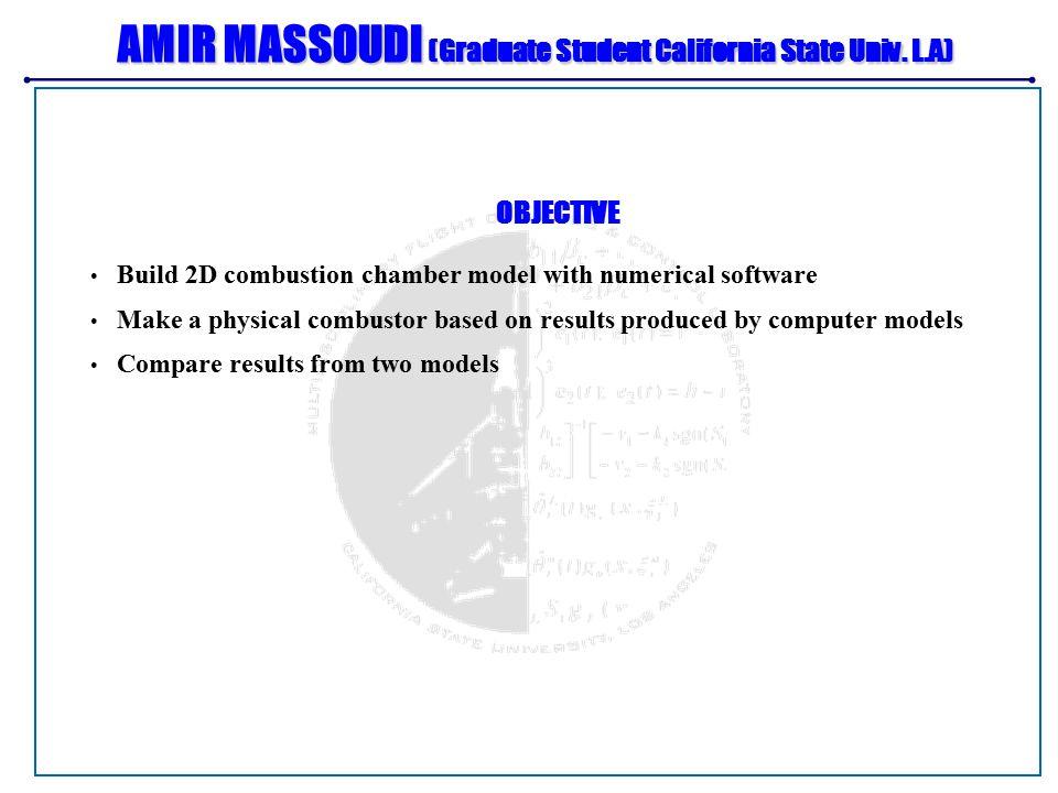 AMIR MASSOUDI (Graduate Student California State Univ.