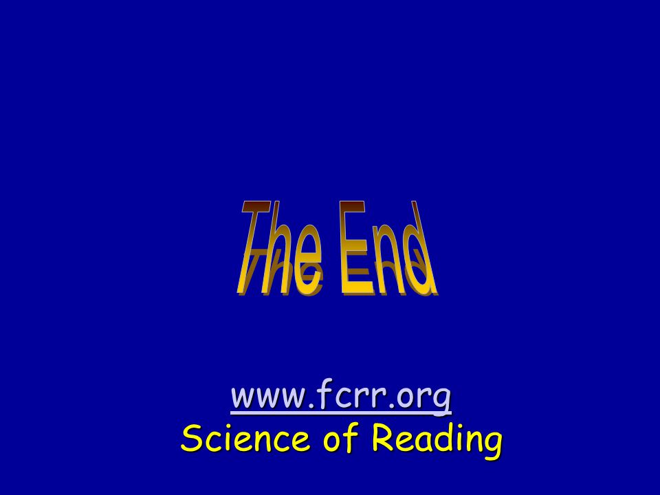 www.fcrr.org Science of Reading
