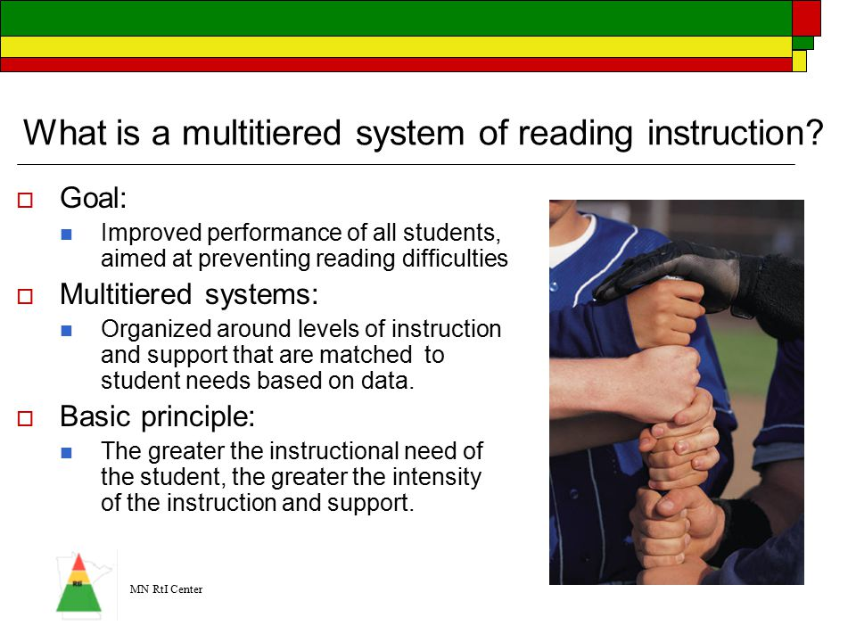 MN RtI Center What is a multitiered system of reading instruction.