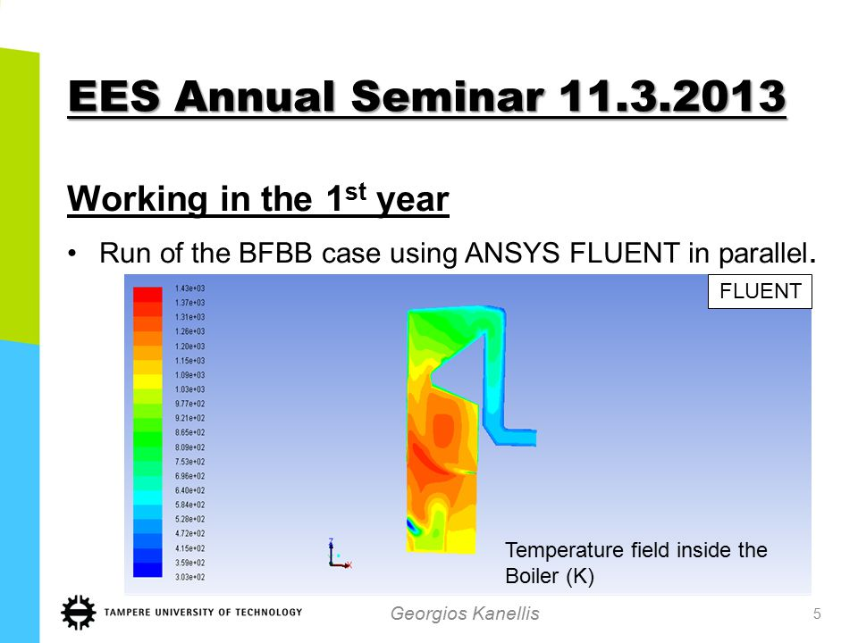 EES Annual Seminar 11.3.2013 NOx Modeling Georgios Kanellis 6 Duo Model for the SNCR,EDCM Model for chemistry-turbulence interaction.