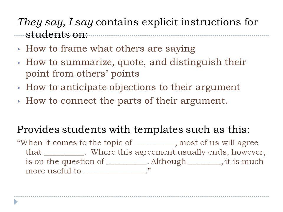 Do templates stifle writers' ideas or creativity.
