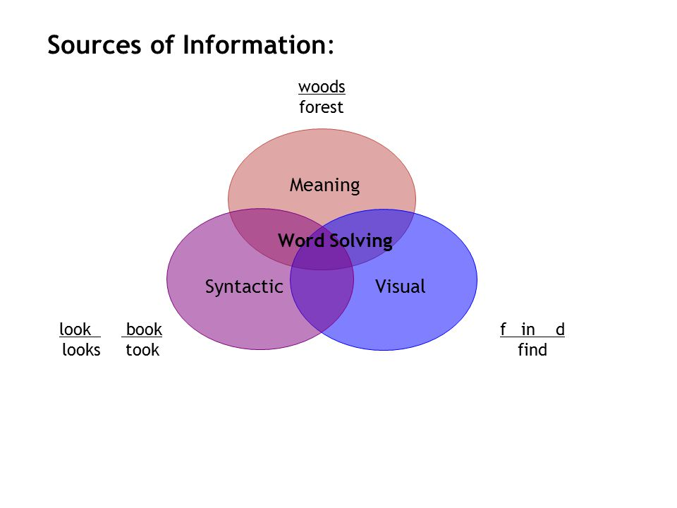 woods forest f in d look book looks took Meaning SyntacticVisual Sources of Information: Word Solving