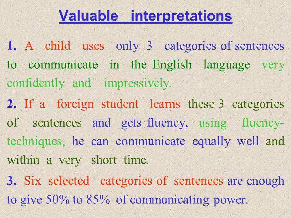 Valuable interpretations 1.