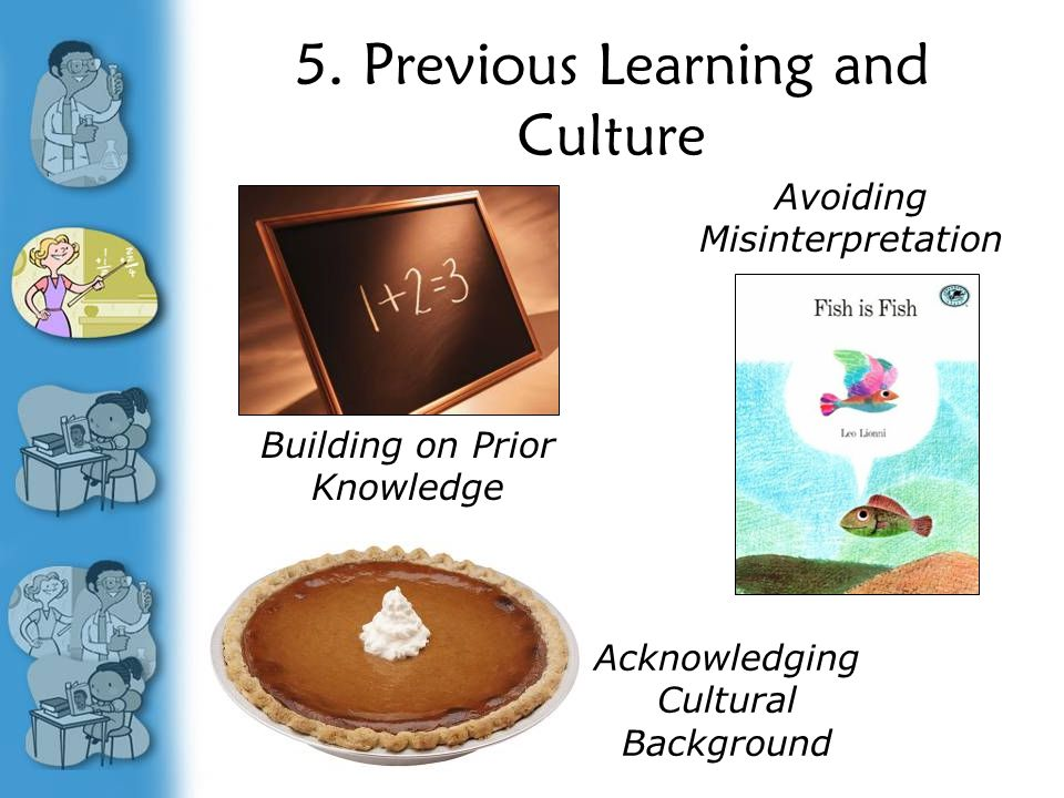 5. Previous Learning and Culture Avoiding Misinterpretation Building on Prior Knowledge Acknowledging Cultural Background