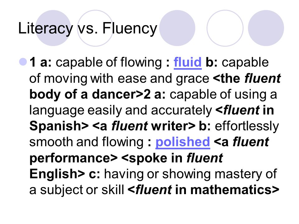 Literacy vs.