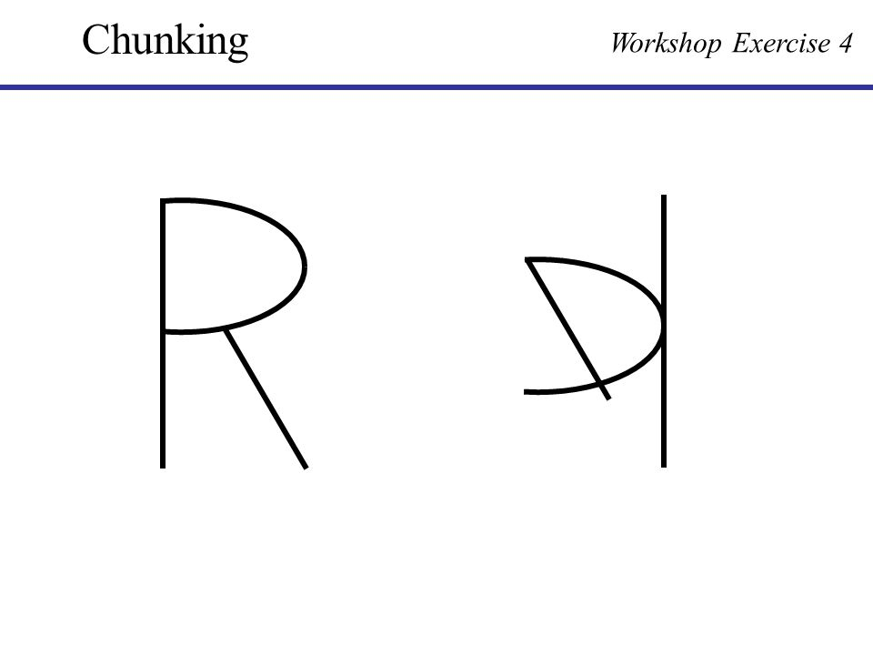 Chunking Workshop Exercise 4