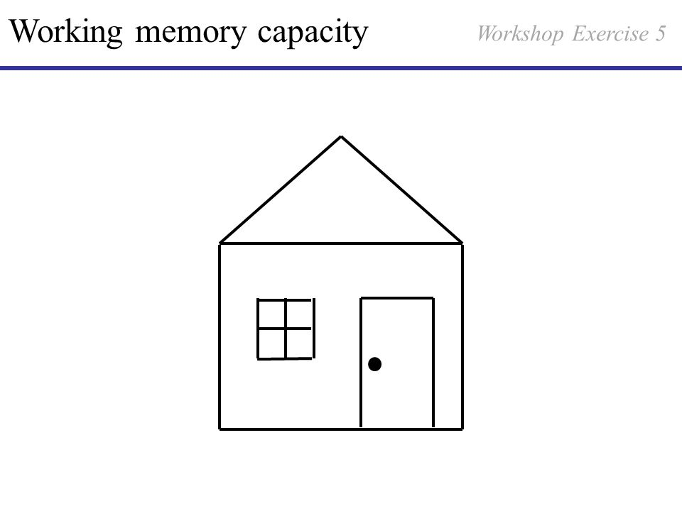 Working memory capacity Workshop Exercise 5