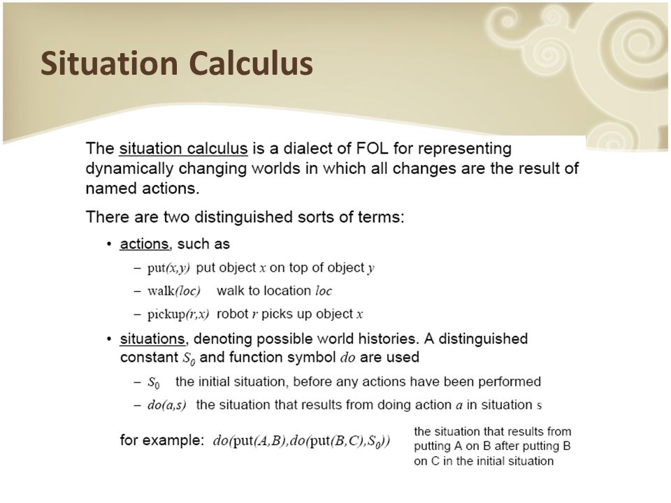 Situation Calculus