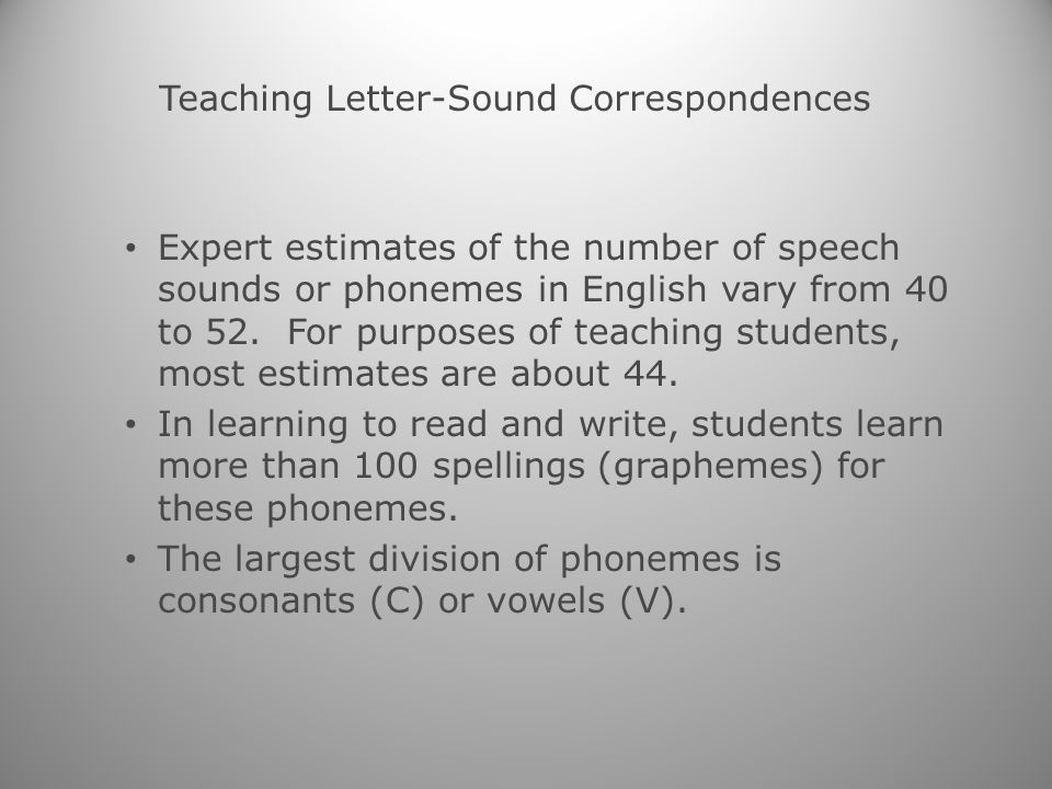 Teaching Phonological Awareness and Phonics Includes such activities as the following: – Listening for words that begin with the same sound – Clapping the number of syllables in words and phonemes in words – Blending and segmenting words by syllables and sounds – Segmenting and manipulating sounds and syllables
