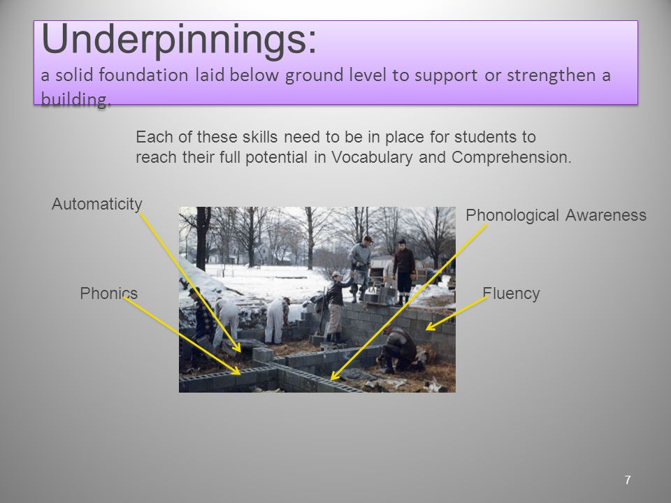 The Reality Morgan is a Struggling Reader who is deficient in the underpinnings of Vocabulary and Comprehension. 6
