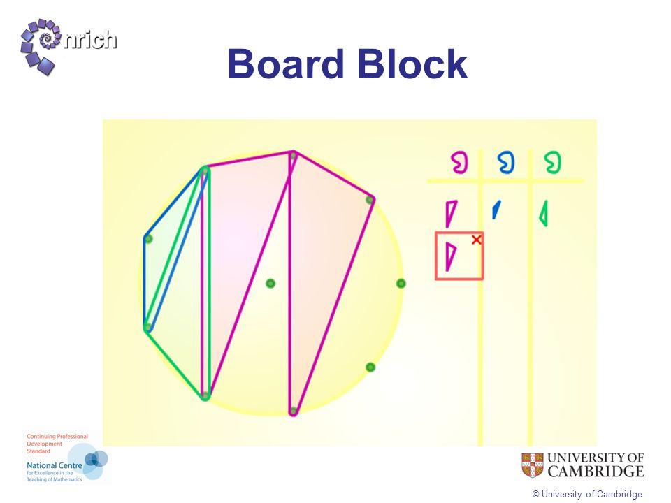 © University of Cambridge Board Block