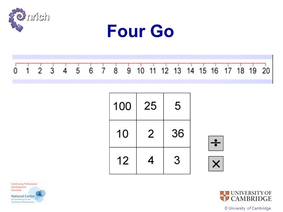 © University of Cambridge Four Go