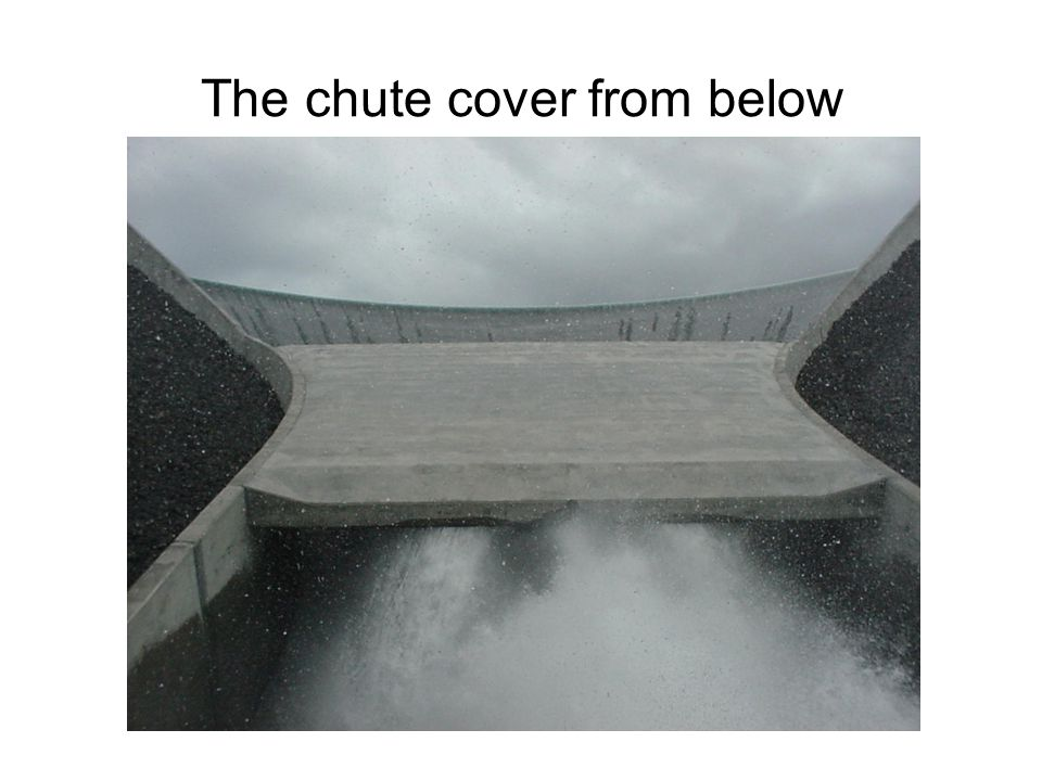 The chute cover from below