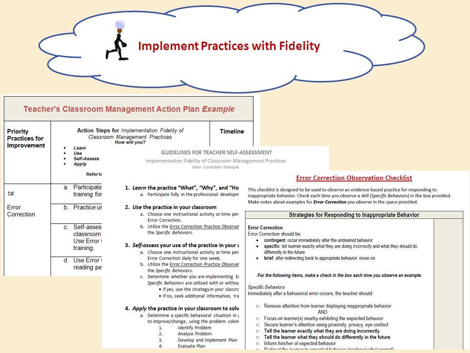 Implement Practices with Fidelity