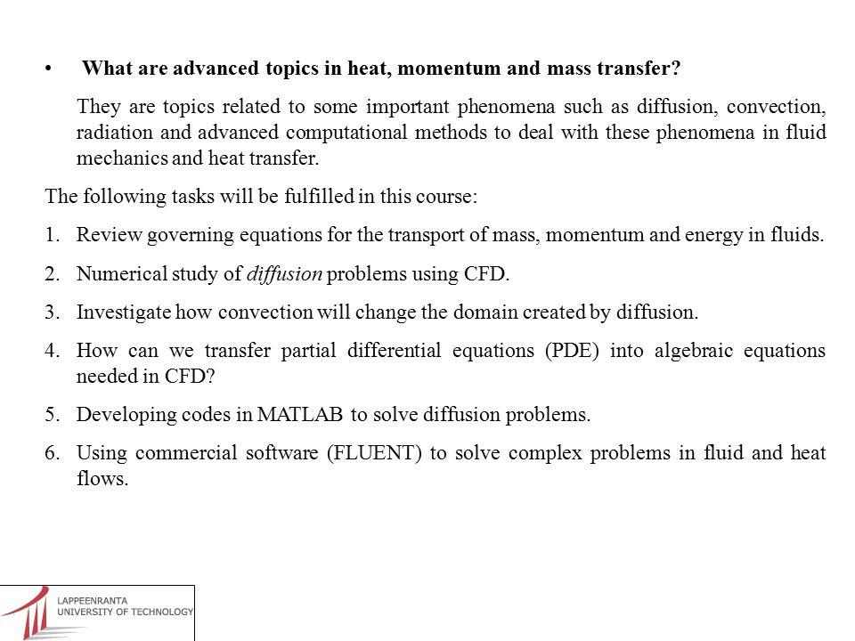 REFERENCES - J.D.Anderson, Computational Fluid Dynamics, McGraw-Hill, Inc.
